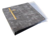 Scott Mint Sheet Binder & 24 Clear Pages - Gray