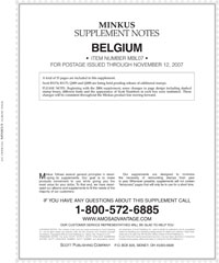 MINKUS: BELGIUM 2007 SUPPLEMENT (16 PAGES)