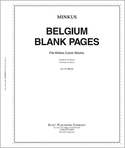 MINKUS BLANK ALBUM PAGES: BELGIUM (20 SHEETS)
