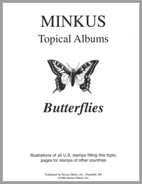 MINKUS TOPICAL ALBUM PAGES: BUTTERFLIES (6 PAGES)