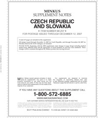 MINKUS: CZECH REPUBLIC & SLOVAKIA 2007 SUPPLEMENT (10 PAGES)