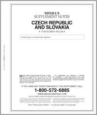 MINKUS: CZECHOSLOVAKIA 1999 SUPPLEMENT (9 PAGES)