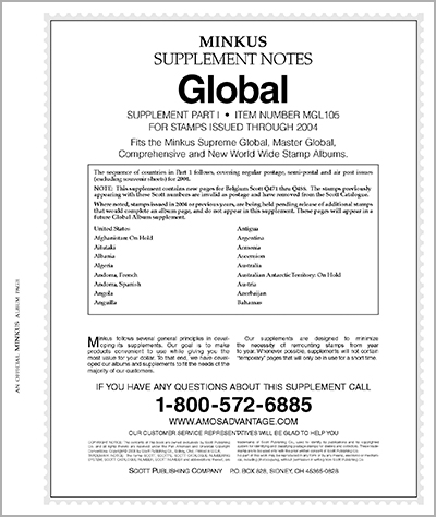 MINKUS: WORLDWIDE GLOBAL 2005 SUPPLEMENT PT. 1 (460 PAGES)