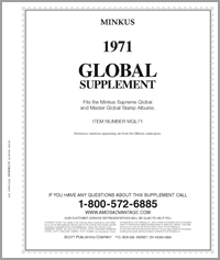 MINKUS: WORLDWIDE GLOBAL 1971 SUPPLEMENT (510 PAGES)