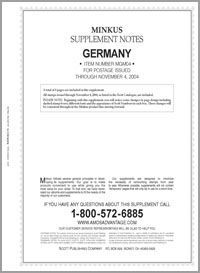 MINKUS: GERMANY 2004 SUPPLEMENT (9 PAGES)