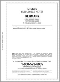 MINKUS: GERMANY 2005 SUPPLEMENT (10 PAGES)