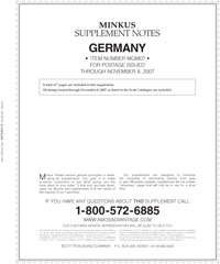 MINKUS: GERMANY 2007 SUPPLEMENT (8 PAGES)