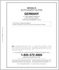 MINKUS: GERMANY 2012 SUPPLEMENT (10 PAGES)