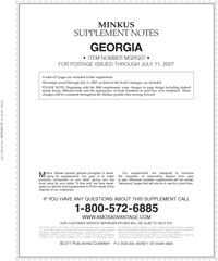 MINKUS: GEORGIA 2007 SUPPLEMENT (6 PAGES)