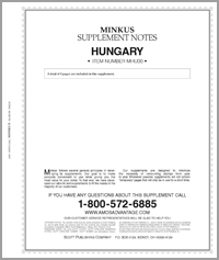 MINKUS: HUNGARY 2000 SUPPLEMENT (9 PAGES)