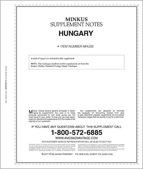 MINKUS: HUNGARY 2002 SUPPLEMENT (8 PAGES)