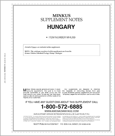 MINKUS: HUNGARY 1999 SUPPLEMENT (9 PAGES)