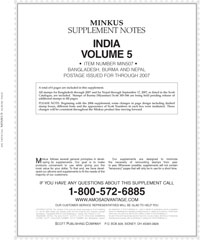 MINKUS: INDIA VOL 5: BANGLADESH 2007 SUPPLEMENT (7 PAGES)