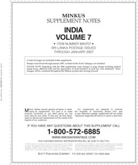 MINKUS: INDIA VOL. 7 SRI LANKA 2007 SUPPLEMENT (5 PAGES)