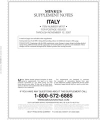 MINKUS: ITALY 2007 SUPPLEMENT (9 PAGES)