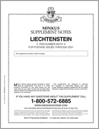 MINKUS: LIECHTENSTEIN 2001 SUPPLEMENT
