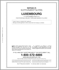 MINKUS: LUXEMBOURG 2011 SUPPLEMENT (7 PAGES)
