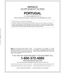 MINKUS: PORTUGAL 2007 SUPPLEMENT (20 PAGES)