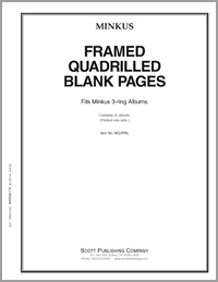 MINKUS BLANK PAGES: FRAMED QUADRILLE 3-RING (1-SIDED) (20 SHEETS) 8 1/2 x 11