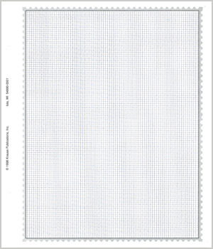 MINKUS BLANK PAGES: 2-POST QUADRILLE REGIONAL/COUNTRY (1-SIDED) (20 SHEETS) 9 1/2 x 11 1/4