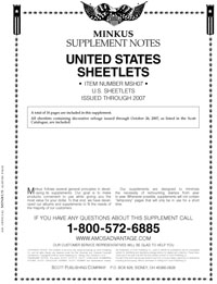 MINKUS: US SHEETLETS 2007 (18 PAGES)