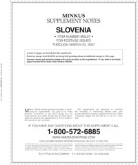 MINKUS: SLOVENIA 2007 SUPPLEMENT (5 PAGES)