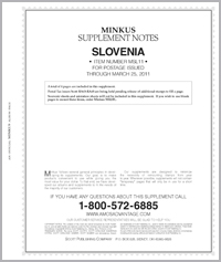 MINKUS: SLOVENIA 2011 SUPPLEMENT (5 PAGES)