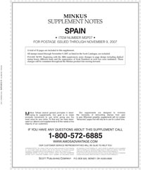 MINKUS: SPAIN 2007 SUPPLEMENT (11 PAGES)