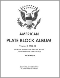 MINKUS: US PLATE BLOCKS VOL. 2 PAGES 1938-1950 (64 PAGES)