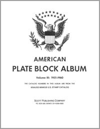 MINKUS: US PLATE BLOCKS VOL. 3 PAGES 1951-1960 (60 PAGES)