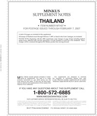 MINKUS: THAILAND 2007 SUPPLEMENT (15 PAGES)