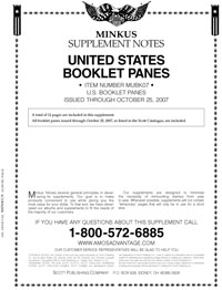 MINKUS: US BOOKLET PANES 2007 (14 PAGES)