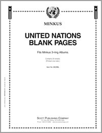 MINKUS BLANK PAGES: UN SINGLES  (8 1/2 x 11) (3 Hole) (1-Sided) (20 SHEETS)