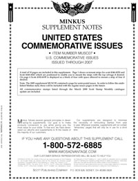 MINKUS: US COMMEMORATIVES 2007 (12 PAGES)