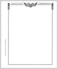 MINKUS BLANK PAGES: US COMMEMORATIVES (3-RING)(PACK OF 20 PAGES)