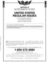 MINKUS: US REGULAR ISSUES 2007 (10 PAGES)