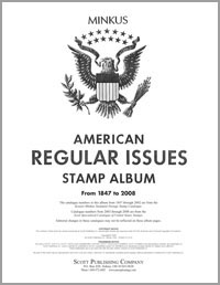 MINKUS: US REGULAR ISSUES ALBUM PAGES 1847-2008 (196 PAGES)