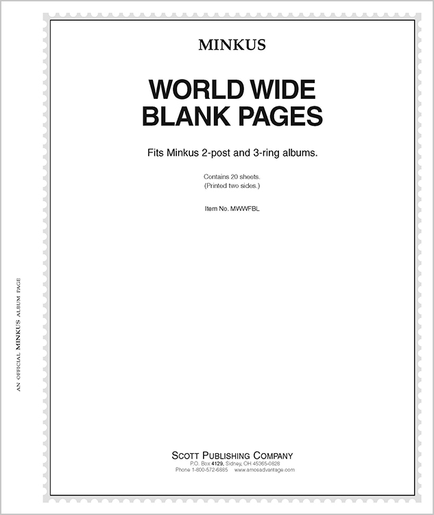 Minkus Worldwide-Global Blank Pages