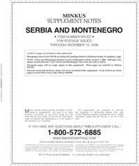 MINKUS: YUG0SLAVIA/SERBIA/MONTENEGRO 2007 SUPPLEMENT (4 PAGES)