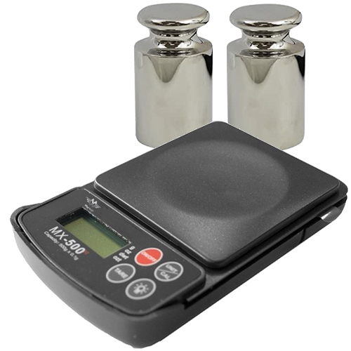 MX-500 Digital Pocket Scale & 200g Calibration Weights