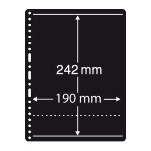 Prinz Black Stock Page - 1 Row / 1 Sided (10-Pack)