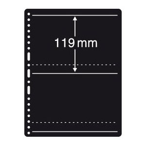 Prinz Black Stock Page - 2 Row / 1 Sided (10-Pack)