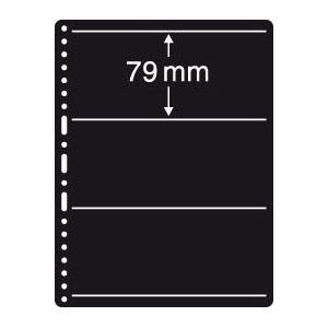 Prinz Black Stock Page - 3 Row / 1 Sided (10-Pack)