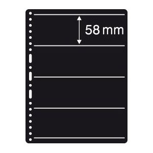 Prinz Black Stock Page - 4 Row / 1 Sided (10-Pack)