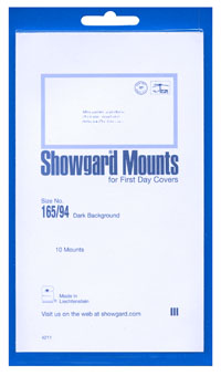165/94 FIRST DAY COVERS (10 BLACK MOUNTS)