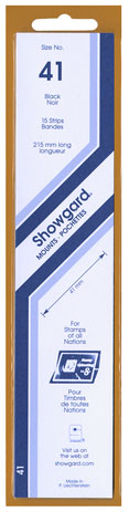 Showgard 41x215 Stamp Mounts - Clear