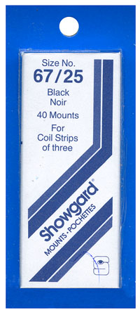 67/25 US COIL STRIPS OF 3 (40 BLACK MOUNTS)