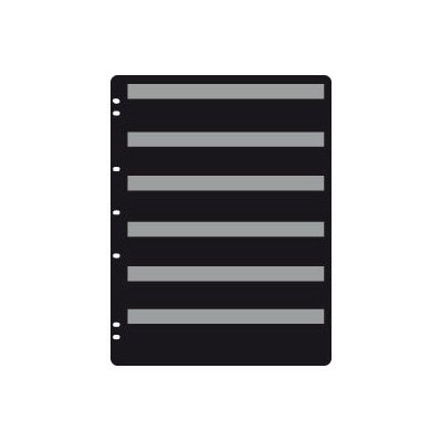 Prinz Plus Black Stock Page - 6 Row (5-Pack)