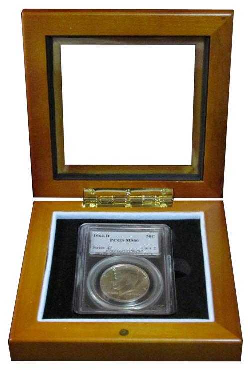 Wood Glass-Top Display Box - Single Slab