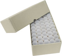 DIME TUBE STORAGE SET (BOX + 50  ROUND TUBES)